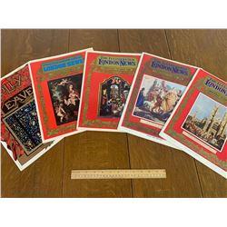 1960s BRITISH CHRISTMAS MAGAZINES LONDON NEWS