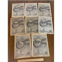 LOT OF 1920s SASKATCHEWAN COOPERATIVE NEWS MAGAZINE