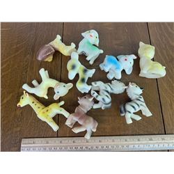 LOT OF VINTAGE RUBBER TOYS