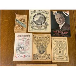 LOT OF VARIOUS OLD ALMANACS