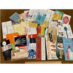LOT OF OLD PHARMACEUTICAL ADVERTISING BLOTTERS