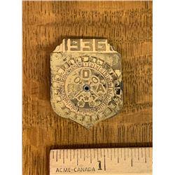 ROE 1936 LITTLE ORPHAN ANNIE RADIO SHOW DECODER BADGE