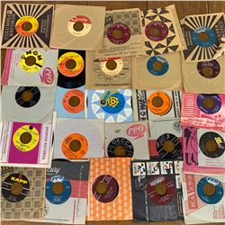 Lot of 25 VARIOUS 45RPM RECORDS SIMON & GARFUNKEL RAY CHARLES ROY ORBISON and MORE