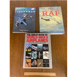 LARGE HARDCOVER AIRCRAFT BOOKS