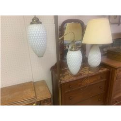 RETRO POLE LAMP AND MATCHING TABLE LAMP