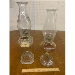 LOT OF OIL LAMPS