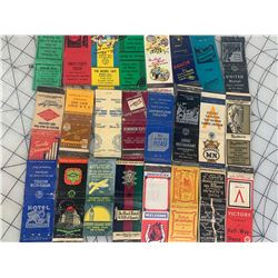 LOT OF OLD MATCH BOOKS