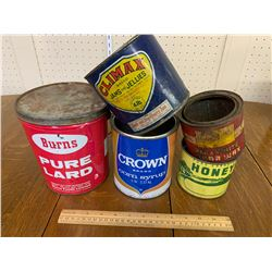 LOT OF VINTAGE KITCHEN RELATED TINS