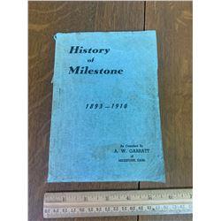 LOCAL HISTORY BOOK MILESTONE SASK