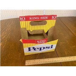 VINTAGE PEPSI SODA POP BOTTLE CARDBOARD CARRIER