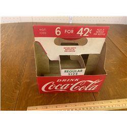 VINTAGE COKE SODA POP BOTTLE CARDBOARD CARRIER