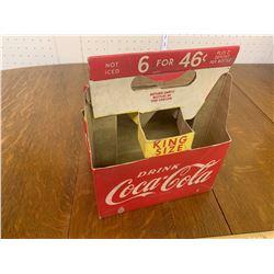 VINTAGE COKE KING SIZE SODA POP BOTTLE CARDBOARD CARRIER