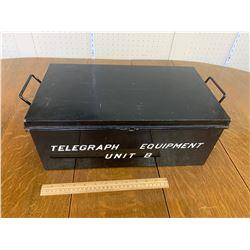 METAL TELEGRAPH EQUIPMENT BOX