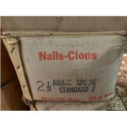 """50 lbs BOX OF NAILS 2 1/2"""" spiral"""