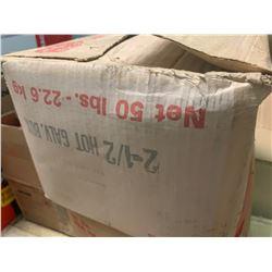 "50 lbs BOX OF NAIL 2 1/2"" GALVANIZED"