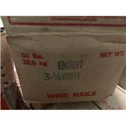"""50 lbs BOX OF NAILS 3 1/2"""" COATED"""