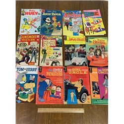 LOT OF 12 VARIOUS VINTAGE COMIC BOOKS