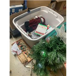 TOTE OF CHRISTMAS ITEMS
