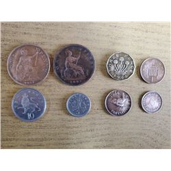 Lot of British coins, pence, farthing etc