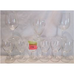 9 ASSORTED WINE GLASSES