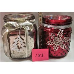 2 NEW CHRISTMAS CANDLES