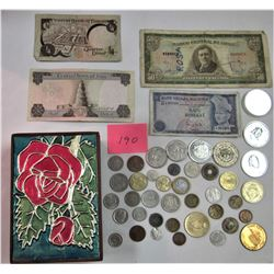 COINS AND BILLS FROM AROUND THE WORLD