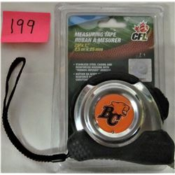 "CFL BC LIONS 25'x1"" MEASURING TAPE NEW"