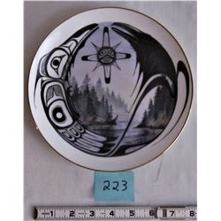 """LIMITED ED. """"RAVEN AND THE SUN"""" SUE COLEMAN HAIDA ART 8"""" COLLECTOR PLATE"""