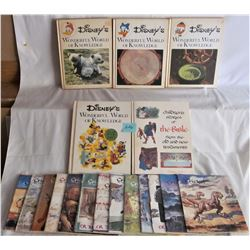 "5 DISNEY HARD COVER WONDERFUL WORLD KNOWLEDGE  AND 13 ""CRICKET"" KIDS MAGAZINES"