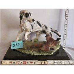 DOG AND PHEASANT HUNTING STATUE