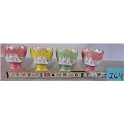 SET OF 4 LAURA SECORD BUNNY EGG CUPS
