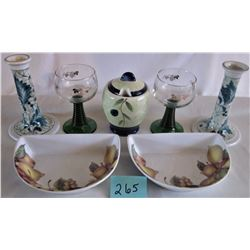 SET OF 7 GLASS CERAMIC KITCHEN ACCESSORIES