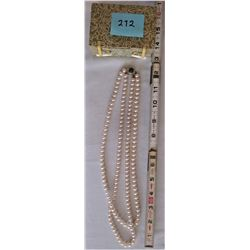 VINTAGE BOXED FAUX PEARL NECKLACE