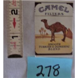 "MINIATURE CAMEL FILTERS CIGARETTE BOX ""LIGHTER"""