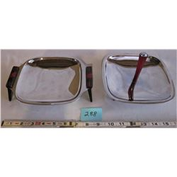 PAIR OF SILVER PLATED SERVING TRAYS