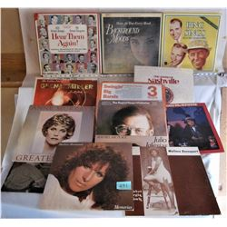 HUGE LOT OF 40 LP 33 1/3 RECORDS