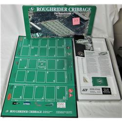 RARE SASK ROUGHRIDERS CRIBBAGE BOARD GAME