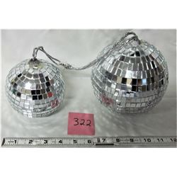 "4""x6"" MIRRORED DISCO BALLS"