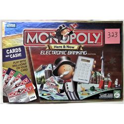 "2007 HERE AND NOW ""ELECTRONIC BANKING"" MONOPOLY RDITION BOARD GAME"