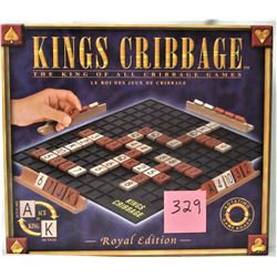 "2007 KINGS CRIBBAGE ""ROYAL EDITION"" TILE GAME"