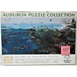 "33"" X 16.5"" 1000 PIECE AUDUBON 'OCEANS IN PERIL - THE PACIFIC' PUZZLE"