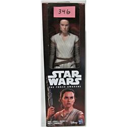 "DISNEY STAR WARS FORCE AWAKENS 12"" REY ACTION FIGURE (NEW)"
