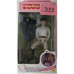 "NEW BOXED FISHER PRICE LOVING FAMILY ""ENGLISH STYLE RIDER"" DOLL"
