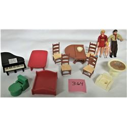 13 PIECE SET OF DOLL HOUSE FURNITURE - HONG KONG - FISHER PRICE