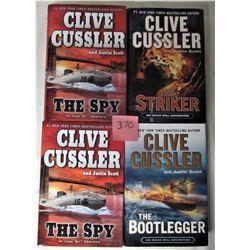 4 CLIVE CUSSLAR H/C NOVELS