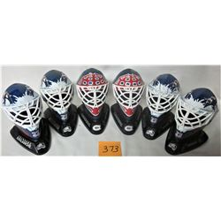 6 1996 MCDONALDS NHL GOALIE HELMETS