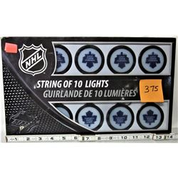 NEW NHL TORONTO MAPLE LEAFS STRING OF 10 LIGHTS