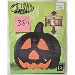 INFLATABLE 3' BLACK HALLOWEEN PUMPKIN