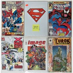 LOT OF 6 NEW VINTAGE SUPER HERO COLLECTOR COMICS BOARDED