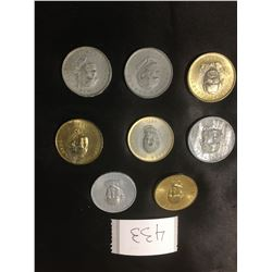 433-PRIME MINISTER TOKENS SET OF 10